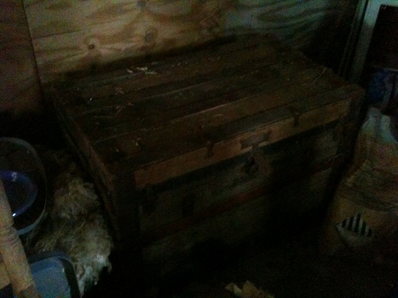 Grandma's Trunk Rescued from Barn